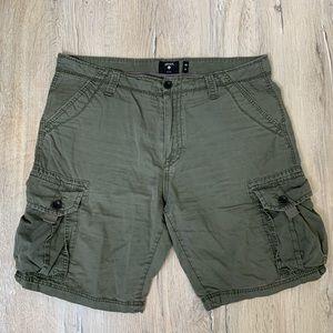 Union Denim Green Cargo Shorts